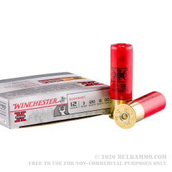 "5 Rounds of 12ga Ammo by Winchester -  3"" 00 Buck"