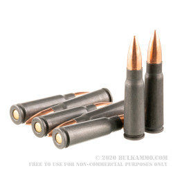 20 Rounds of 7.62x39mm Ammo by Wolf - 123gr FMJ
