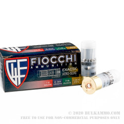 250 Rounds of 12ga Ammo by Fiocchi Law Enforcement -  Rifled Slug