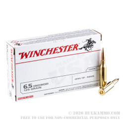 200 Rounds of 6.5 Creedmoor Ammo by Winchester USA - 125gr Open Tip Range