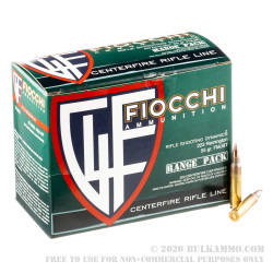 200 Rounds of .223 Rem Ammo by Fiocchi Shooting Dynamics - 55gr FMJBT