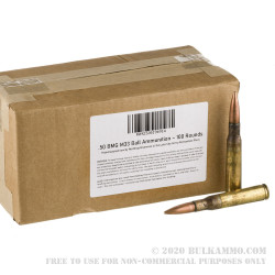 100 Rounds of .50 BMG Ammo by Lake City - 660gr FMJ M33