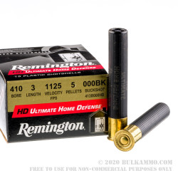 "15 Rounds of .410 3"" Ammo by Remington -  000 Buck"