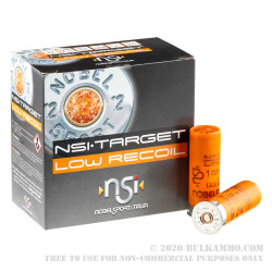 250 Rounds of 12ga Ammo by NobelSport - 1 ounce #8 1/2 shot