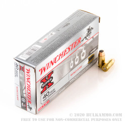 50 Rounds of .40 S&W Ammo by Winchester WinClean - 180gr BEB - LE Trade-In