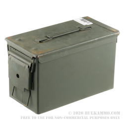 1 Surplus Good Condition Mil-Spec 50 Cal M2A1 Green Ammo Can