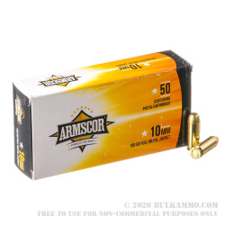 1000 Rounds of 10mm Ammo by Armscor Phillipines - 180gr FMJ