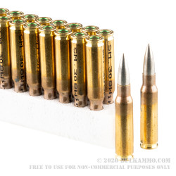 1000 Rounds of .308 Win Ammo by German Military Surplus - 148gr FMJ