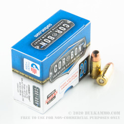 500 Rounds of 9mm + P Ammo by Corbon - 125gr JHP