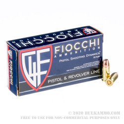 1000 Rounds of .32 ACP Ammo by Fiocchi - 60gr JHP