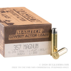 50 Rounds of .357 Mag Ammo by Magtech - 158gr LFN