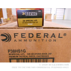 50 Rounds of .38 Spl +P Ammo by Federal - 147gr JHP