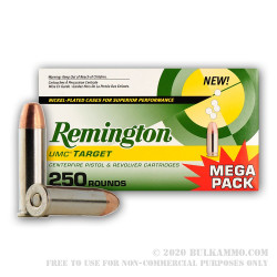 500 Rounds of .38 Spl Nickel Plated Ammo by Remington - 130gr MC