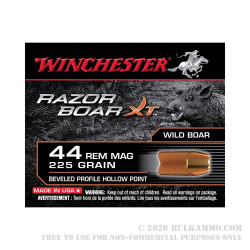 20 Rounds of .44 Mag Ammo by Winchester Razorback - 225gr BPHP