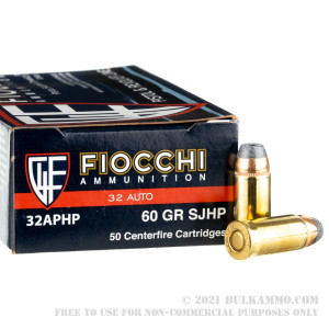50 Rounds of .32 ACP Ammo by Fiocchi - 60gr SJHP review