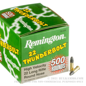 500  Rounds of .22 LR Ammo by Remington Thunderbolt - 40gr LRN review