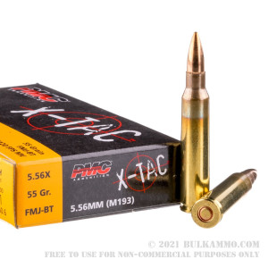 1000 Rounds of 5.56x45 Ammo by PMC - 55gr FMJ review