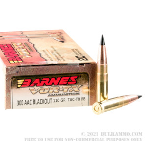 20 Rounds of .300 AAC Blackout Ammo by Barnes VOR-TX - 110gr TAC-TX FB review