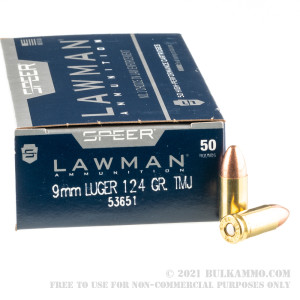 1000 Rounds of 9mm Ammo by Speer Lawman - 124gr TMJ  review