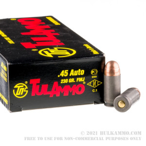 500  Rounds of .45 ACP Ammo by Tula - 230gr FMJ review