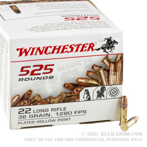 525 Rounds of .22 LR Ammo by Winchester - 36gr CPHP review