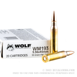 1000 Rounds of 5.56x45 Ammo by Wolf Gold - 55gr FMJ review