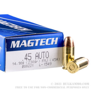 1000 Rounds of .45 ACP Ammo by Magtech - 230gr FMJ review