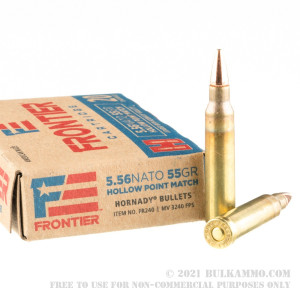 20 Rounds of 5.56x45 Ammo by Hornady Frontier - 55gr HP Match review