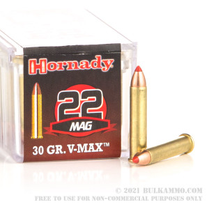 50 Rounds of .22 WMR Ammo by Hornady - 30gr V-MAX review