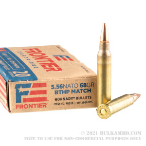 500 Rounds of 5.56x45 Ammo by Hornady Frontier - 68gr BTHP Match review