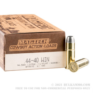 1000 Rounds of .44-40 Win Ammo by Magtech - 225gr LFN review