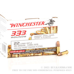 333 Rounds of .22 LR Ammo by Winchester - 36gr CPHP review