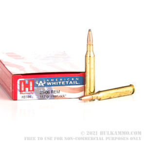 20 Rounds of 25-06 Remington Ammo by Hornady American Whitetail - 117gr InterLock review