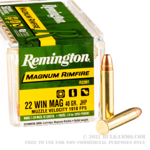 50 Rounds of .22 WMR Ammo by Remington - 40gr JHP review
