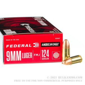 1000 Rounds of 9mm Ammo by Federal American Eagle - 124gr FMJ review
