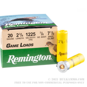 25 Rounds of 20ga Ammo by Remington - 7/8 ounce #7 1/2 shot review
