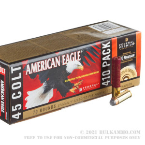 """70 Rounds of .45 Long-Colt/410 Gauge Ammo by Federal American Eagle Combo - 225gr JSP/2 1/2"""" 000 Buck review"""