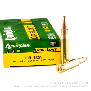 20 Rounds of .308 Win Ammo by Remington - 150gr PSP review