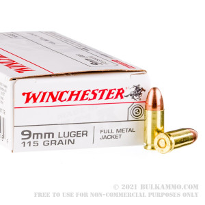 50 Rounds of 9mm Ammo by Winchester - 115gr FMJ review