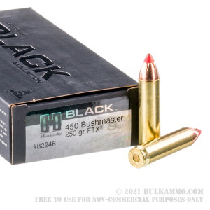 200 Rounds of 450 Bushmaster Ammo by Hornady BLACK - 250gr FTX review