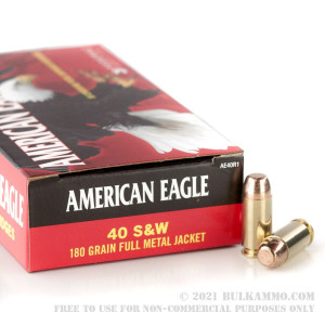 40 S&W - 180 gr FMJ - Federal American Eagle - 1000 Rounds review
