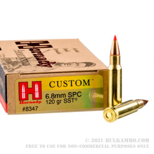 20 Rounds of 6.8 SPC Ammo by Hornady - 120gr SST review