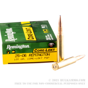 20 Rounds of 25-06 Remington Ammo by Remington - 120gr PSP review