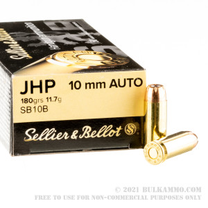 50 Rounds of 10mm Ammo by Sellier & Bellot - 180gr JHP review