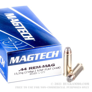 50 Rounds of .44 Mag Ammo by Magtech - 240gr SJSP review