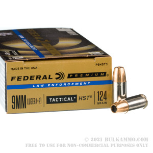 50 Rounds of 9mm + P Ammo by Federal Premium Tactical - 124gr HST JHP review