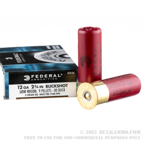 250 Rounds of 12ga Ammo by Federal -  00 Buck review