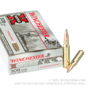 20 Rounds of .308 Win Ammo by Winchester - 180gr PP review
