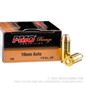 25 Rounds of 10mm Ammo by PMC - 170gr JHP review