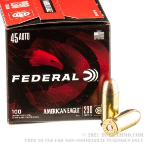 500  Rounds of .45 ACP Ammo by Federal American Eagle - 230gr FMJ review